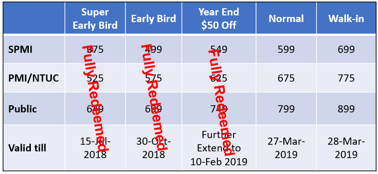 Pricing table Feb19
