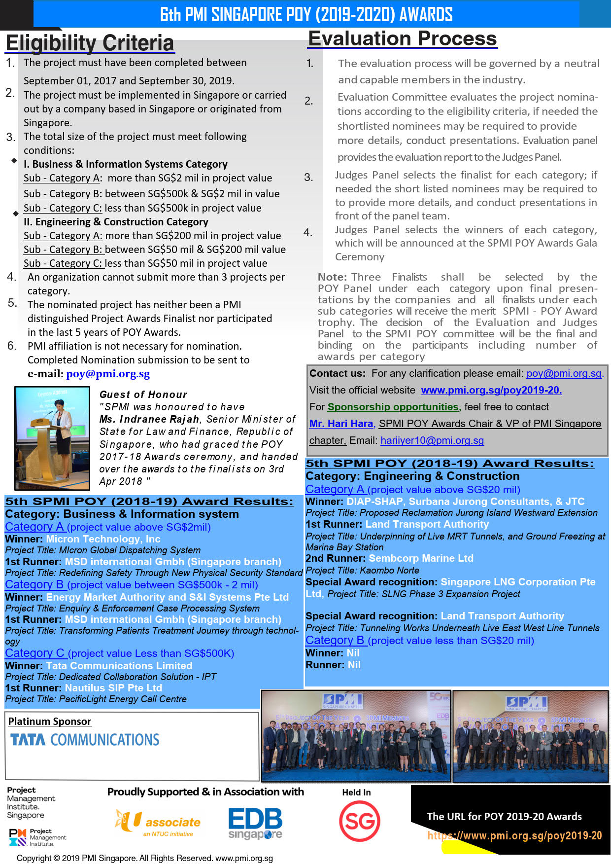 Newsletter 1 Call for Nominatons POY2018 19 r4 Pg 1 of 2